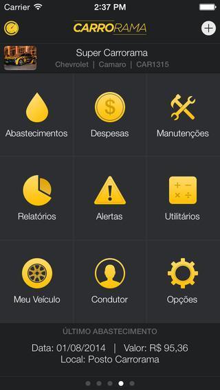 App Carrorama economizar combustível