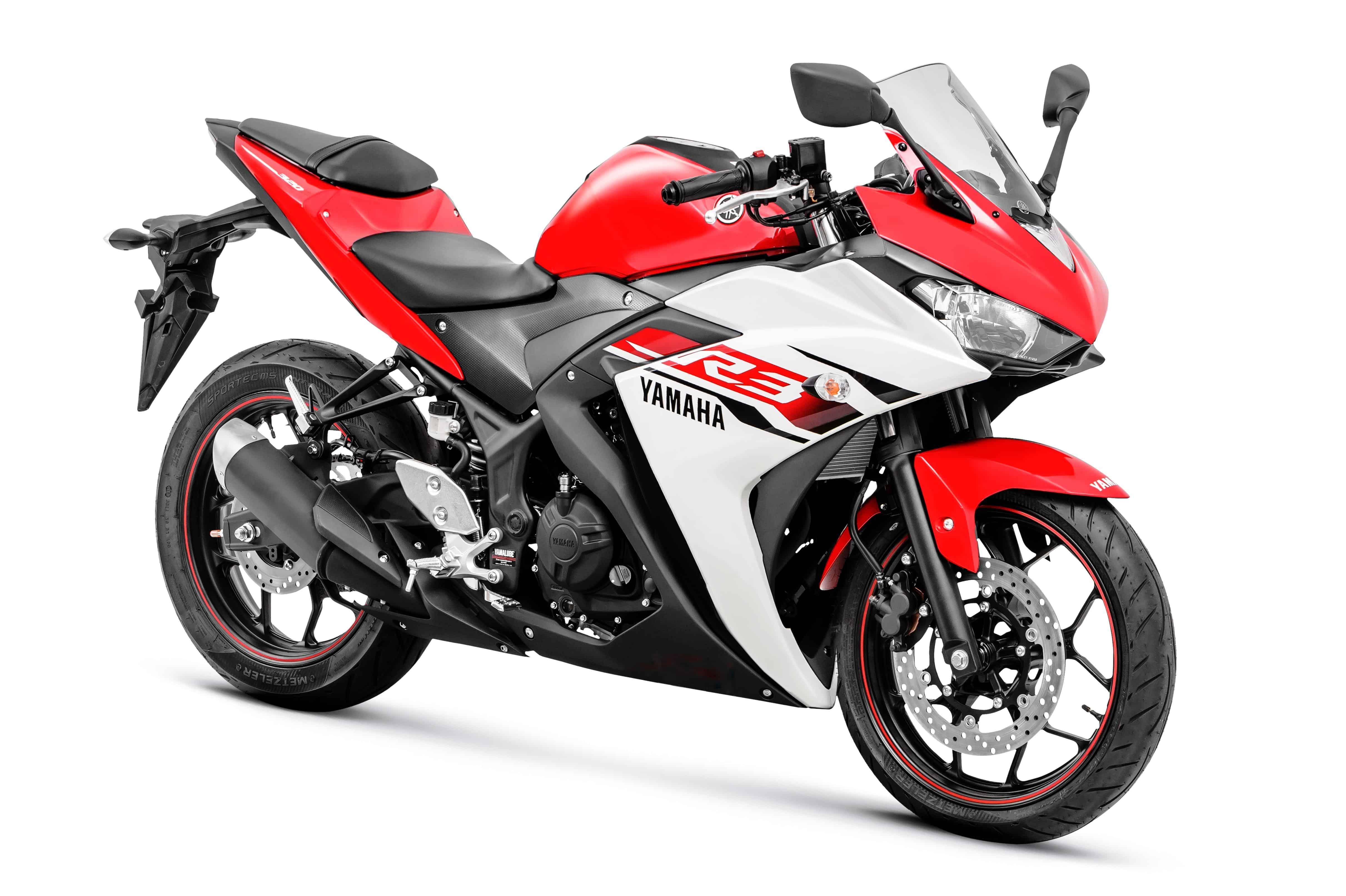 Yamaha YZF-R3 vermelha