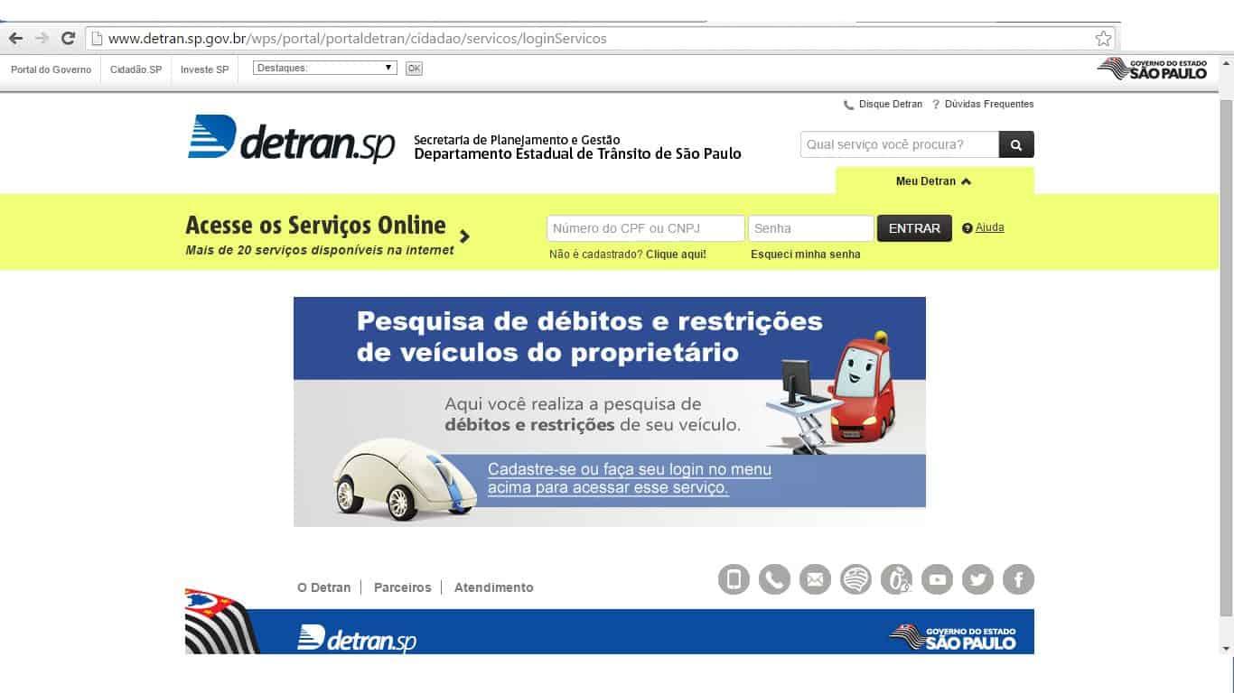 site-detran-sp Como consultar e recorrer multas do Detran SP (Garantido!)