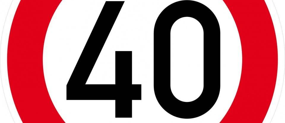 velocidade máxima 40km h