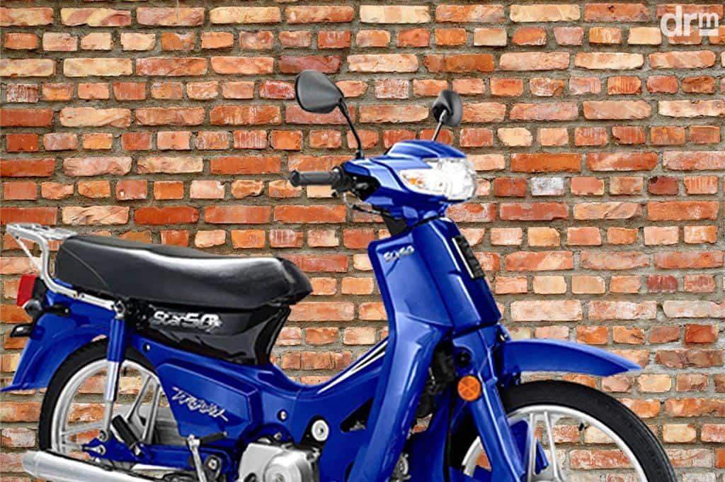 moto 50cc azul