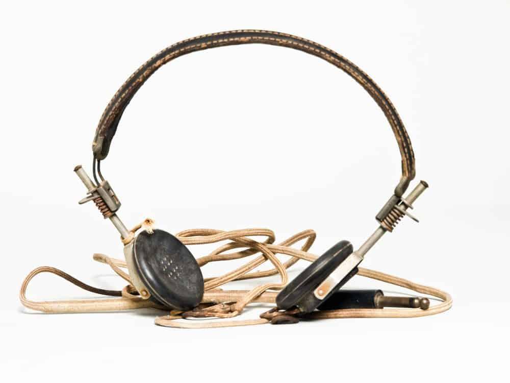 fones de ouvido antique