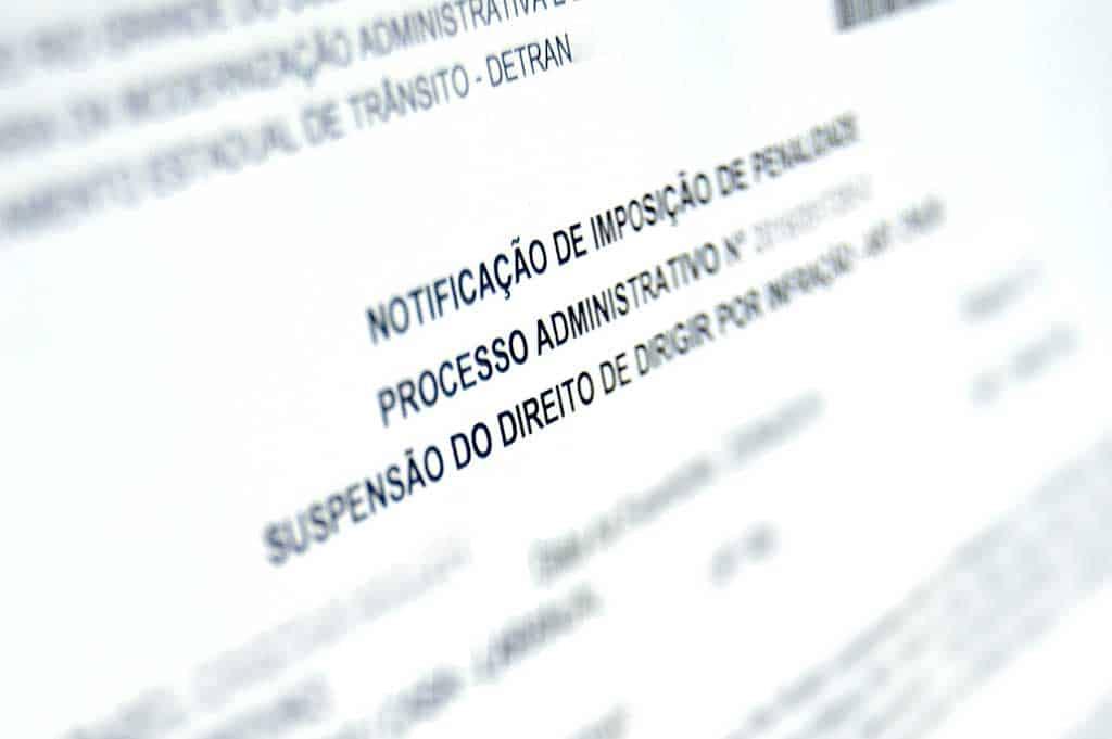 carta de suspensão