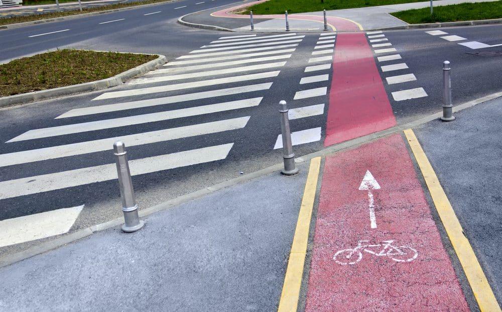 segurança no trânsito ciclofaixa