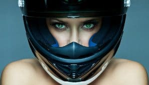 capacete sem viseira motocicleta