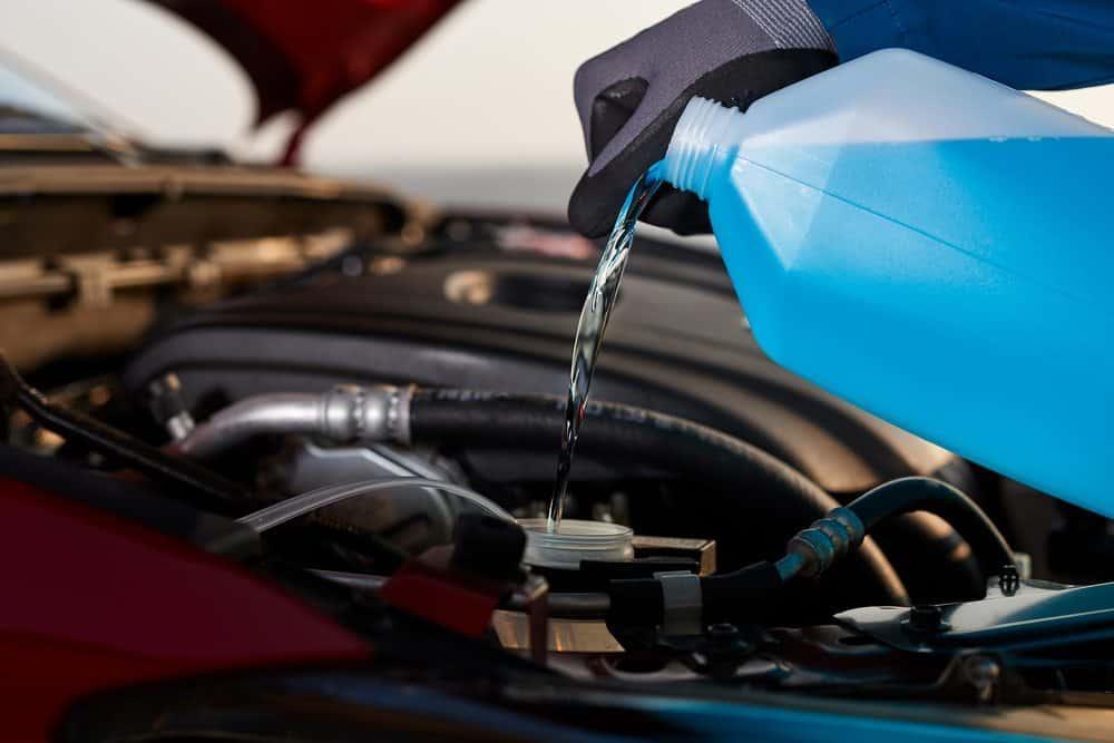 motor de carro verifique a agua