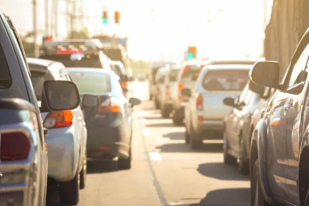 viagem de carro evite hora rush