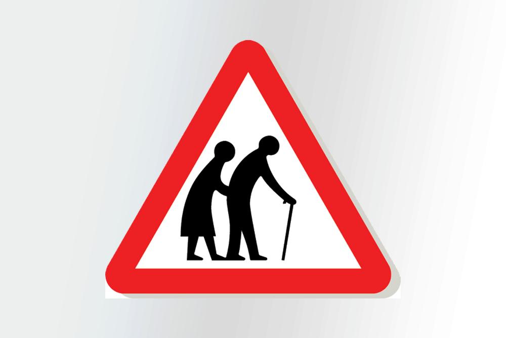 placas de transito bizarras pessoas idosas