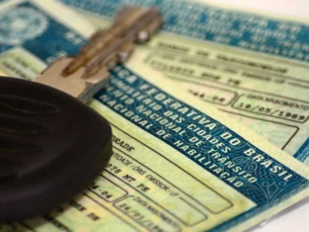 pontos na carteira de motorista